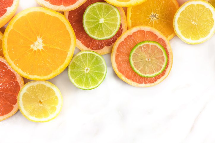 Citric acid is a common acid found in the kitchen