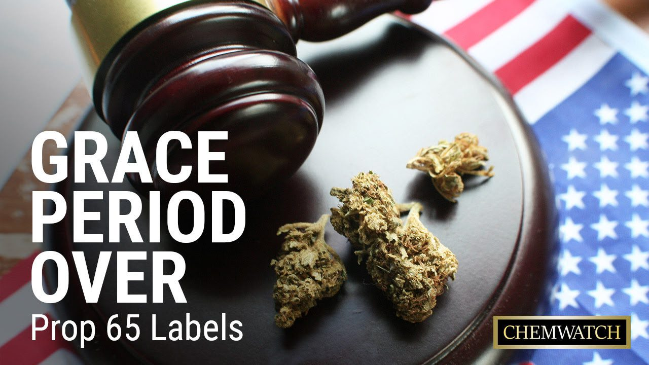 Grace Period OVER For Prop 65 Labels