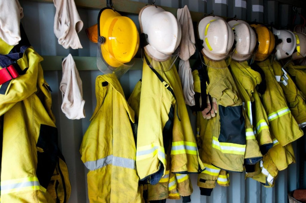 Section 5 details the PPE required for firefighters.