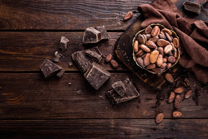 The amounts of theobromine in chocolate are low enough for safe human consumption